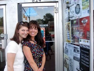 Me and vanessa record store