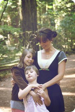 Redwood forest mom and girls 2