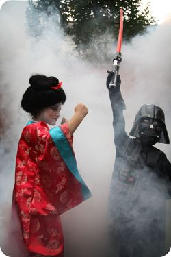 Geisha and vadar super fight