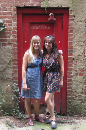 Jen and me red door new
