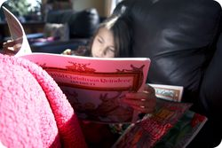 M reading xmas books