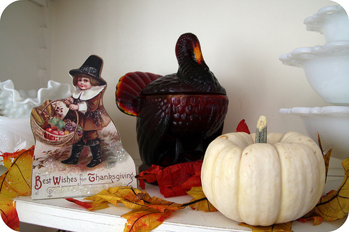 Thanksgiving glass turkey
