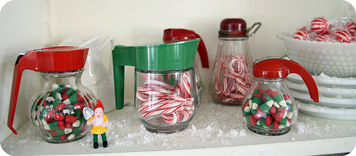 Xmas syrup dispensers