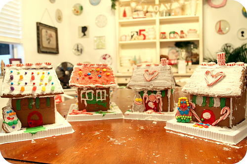 Xmas 4 gingerbread houses