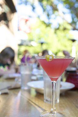Summer pink drink