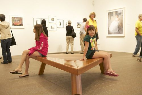 Summer girls sitting in art