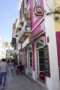 Portugal pink fushia house