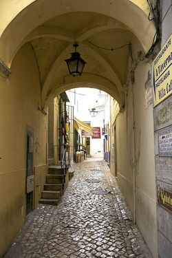 Portugal yellow archway