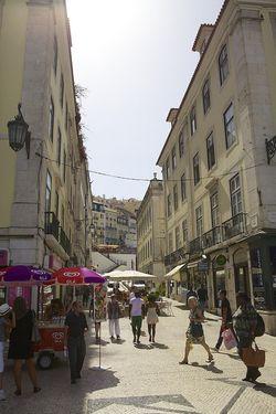 Portugal Lisbon streets people