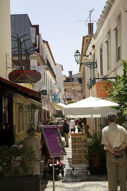 Portugal cascais tiny narrow street
