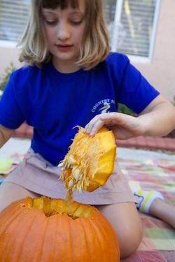Halloween carving pumpkin A