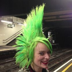 London 13 green mohawk