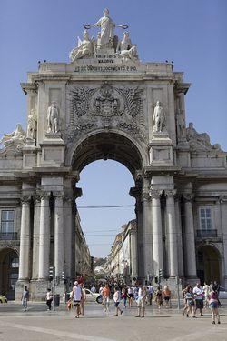 Portugal Lisbon large arch