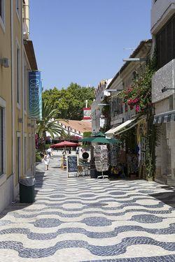 Portugal Cascais narrow street 1