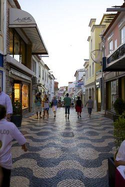 Portugal cascais dusk street