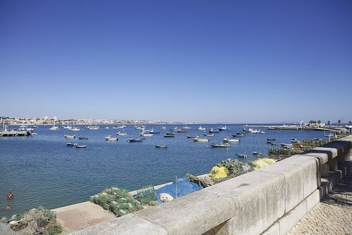 Portugal seaside boats