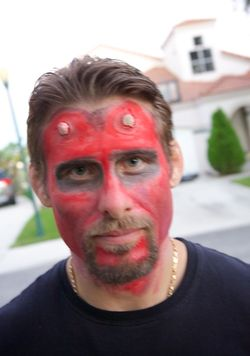 Halloween dad devil