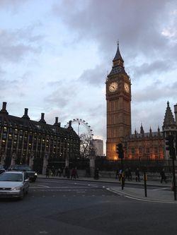 London 13 Big Ben Eye dusk