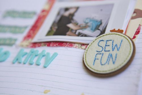 Sewing pretty sew fun patch